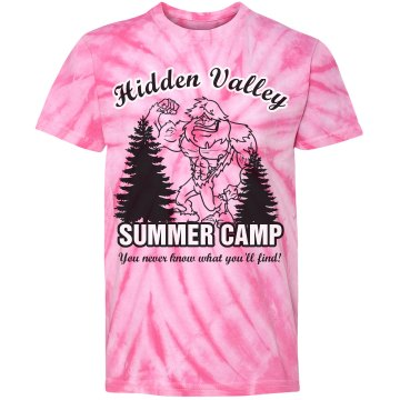 Hidden Valley Summer Camp Youth Gildan Heavy Cotton Crew Neck Tee