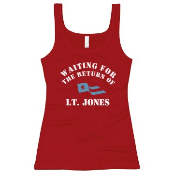 Waiting for His Return Junior Fit Bella Longer Length 1x1 Rib Tank Top