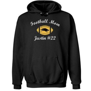 Eagle Football Mom Unisex Hanes Ultimate Cotton Heavyweight Hoodie