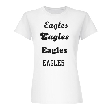 Eagles! Junior Fit Basic Bella Favorite Tee