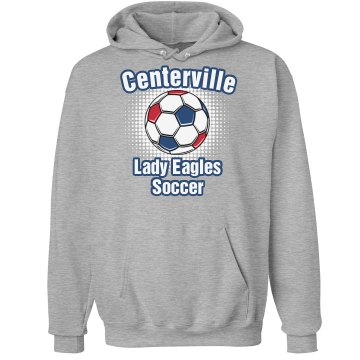 Eagles Soccer Hoodie Unisex Hanes Ultimate Cotton Heavyweight Hoodie
