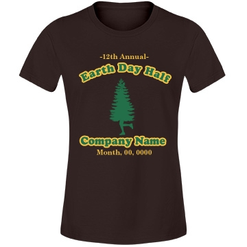 Earth Day Race Marathon Misses Relaxed Fit Anvil Lightweight Fashion Tee