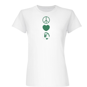 Earth Day Symbols Junior Fit Basic Bella Favorite Tee