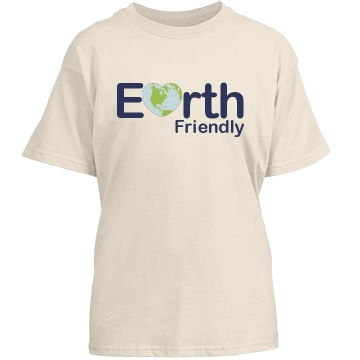 Earth Friendly Youth Gildan Heavy Cotton Crew Neck Tee