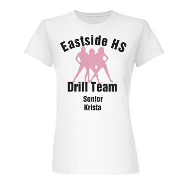 Eastside HS Drill Team Junior Fit Basic Bella Favorite Tee