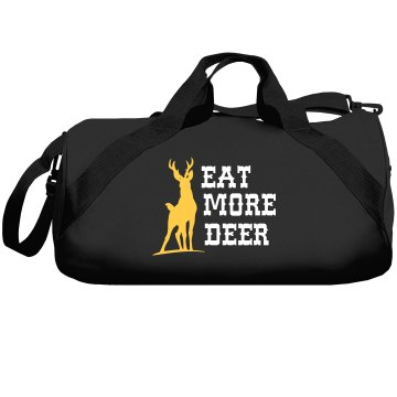 Eat More Deer Liberty Bags Barrel Duffel Bag