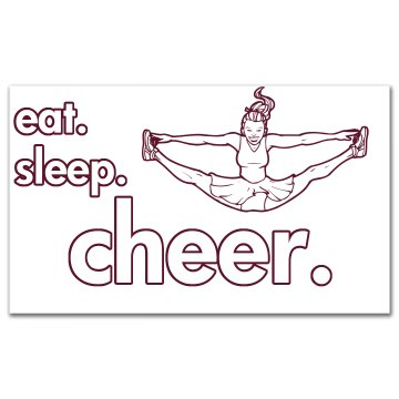 Eat Sleep Cheer Sticker