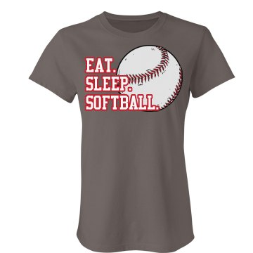 Eat Sleep Softball Junior Fit Bella Favorite Tee