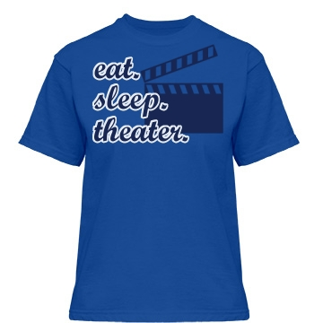 Eat. Sleep. Theater Misses Relaxed Fit Gildan Heavy Cotton Tee