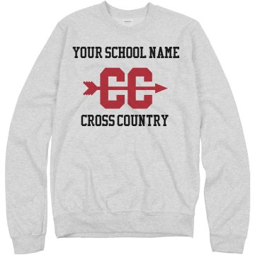 Cross Country Sweatshirt Unisex Hanes Crew Neck Sweatshirt