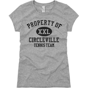 Property of Circleville T Junior Fit Basic Bella Favorite Tee