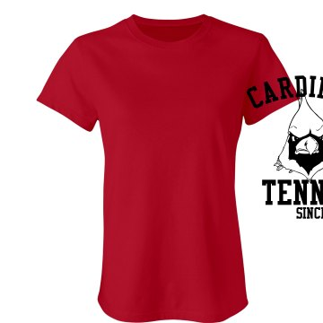 Cardinal Tennis Vintage T Junior Fit Bella Sheer Longer Length Rib Tee
