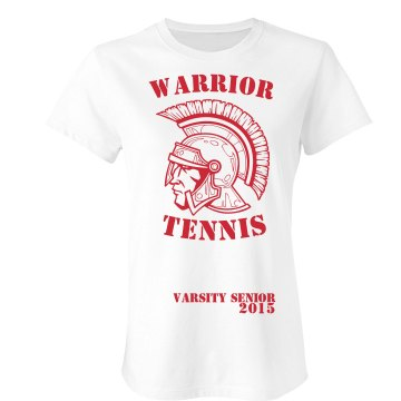 Warrior Tennis Senior Junior Fit Bella Sheer Longer Length Rib Tee