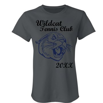 Wildcat Tennis Club Junior Fit Bella Sheer Longer Length Rib Tee