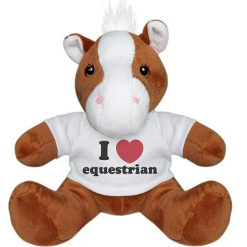 I Love Equestrian Pony Plush Pony