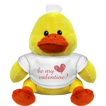 Be My Valentine Duckie Plush Duckie