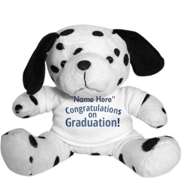 Graduation Dog Plush Dalmatian Dog