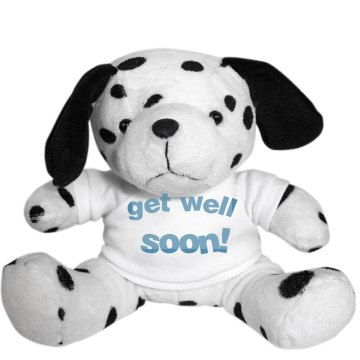 Get Well Soon Dog Plush Dalmatian Dog