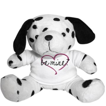 Be Mine Dalmation Plush Dalmatian Dog