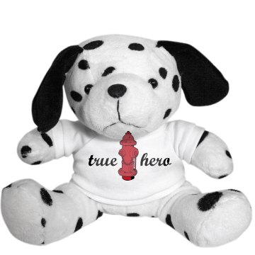Firefighter True Hero Dog Plush Dalmatian Dog