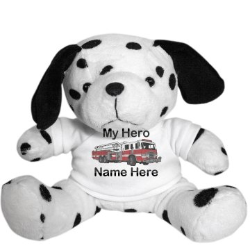 Fire Truck Dog  Plush Dalmatian Dog