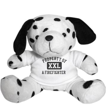 Property Of A Firefighter Plush Dalmatian Dog