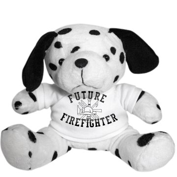 Future Firefighter Dog Plush Dalmatian Dog