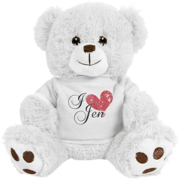 I Heart Jen Bear Medium Plush Teddy Bear
