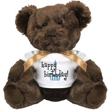Happy Birthday Bear Medium Plush Teddy Bear