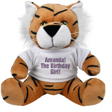 Brithday Girl Tiger Plush Tiger