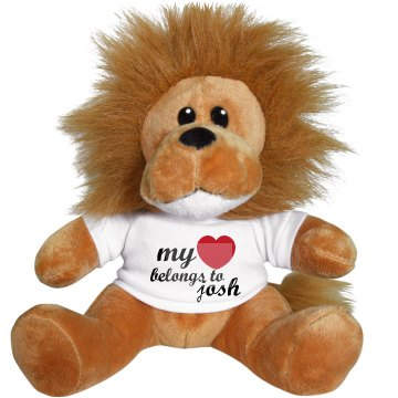 My Heart Belongs To Lion Plush Lion
