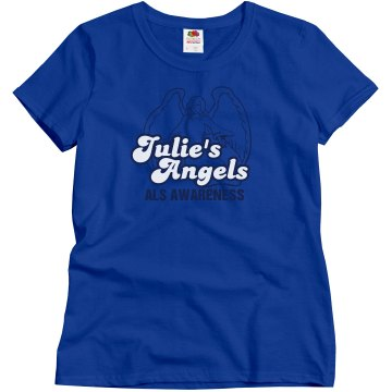 Julie's Angels For ALS Misses Relaxed Fit Gildan Heavy Cotton Tee