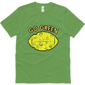 Go Green Distressed Unisex Canvas Jersey Tee