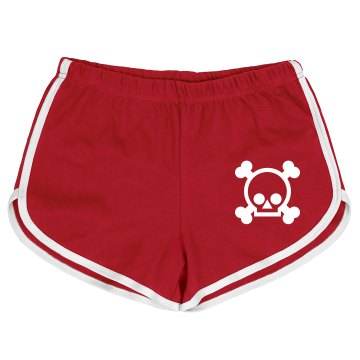 Skull Mesh Shorts Ladies Badger 5'' Inseam Pro Mesh Tricot Shorts