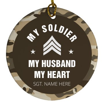 My Soldier Ornament Porcelain Circle Ornament