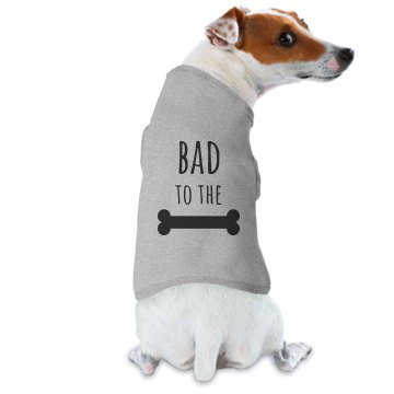 Bad To The Bone Doggie Skins Dog Hoodie Tee