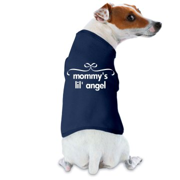 Mommy's Angel Doggie Skins Dog Hoodie Tee