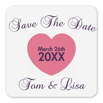 Save The Date Magnet Square Magnet