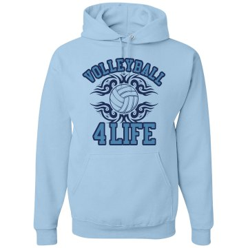 Volleyball 4 Life Hoodie Unisex Gildan Heavy Blend Hoodie
