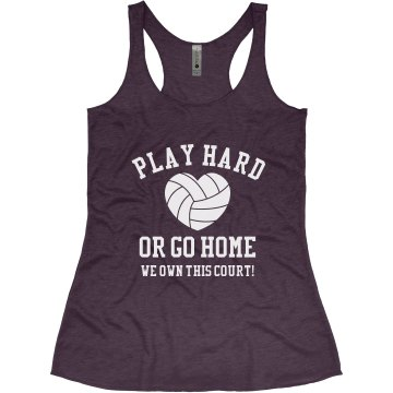 Play Hard or Go Home Junior Fit Bella Longer Length 1x1 Rib Tank Top
