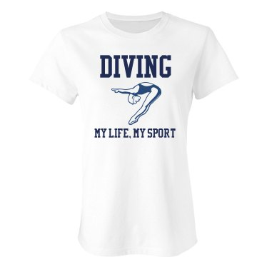Diving Team T-Shirt Junior Fit Bella Sheer Longer Length Rib Tee