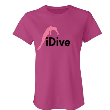 iDive Junior Fit Bella Crewneck Jersey Tee