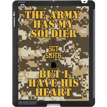 Army Have His Heart Black iPad Smart Cover
