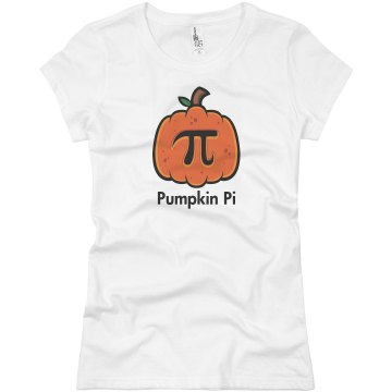 Pumpkin Pi Junior Fit Basic Bella Favorite Tee