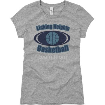 Licking Heights Team Mom Junior Fit Basic Bella Favorite Tee