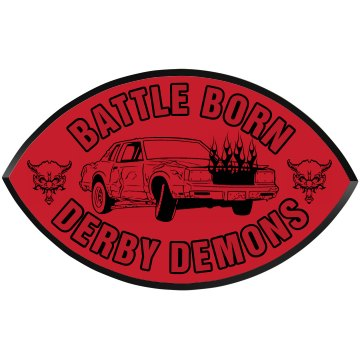 Demolition Derby Garage Football Wood Plaque