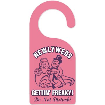 Newlywed Honeymoon Hanger Door Knob Hanger