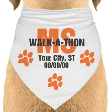 MS Walk-A-Thon Bandana Dog Bandana