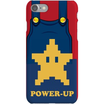 Power Up iPhone Case Plastic iPhone 5 Case Black