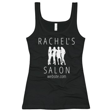 Rachel's Beauty Salon Junior Fit Bella Sheer Longer Length Rib Tank Top